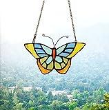 makenier Tiffany-Stil gebeizt Glas Schmetterling Fenster Aufhängen Sun Catcher