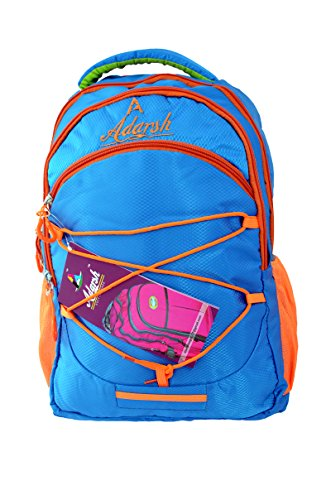 Adarsh Blue Multicolor Polyester School Bag (21 Litre) (Adarsh AD02 )