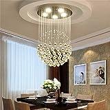 Modernen minimalistischen Kronleuchter Kristall Wendeltreppe, die Schlafzimmer Duplex Wärme Bekleidungsgeschäft Korridor Kronleuchter Lounge Restaurant, 60 * 60 * 80 cm (4 w/Led * 7)