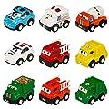 Fahrzeuge Spielzeug Set Mini Cars Zurück Schieben Spielzeug Auto für Jungen Mädchen Lkw Auto Liebhaber 3 4 5 6 Jahre Alt (9 Stücke) von JIAXIN TOYS FACTORY