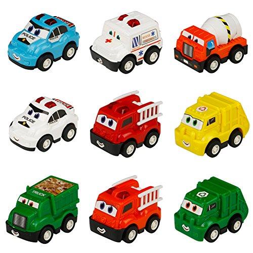 Foto de Véhicule Miniature Camion 9 Pcs Tire Hacia Atrás el Coche de Juguetes para Niños Niñas