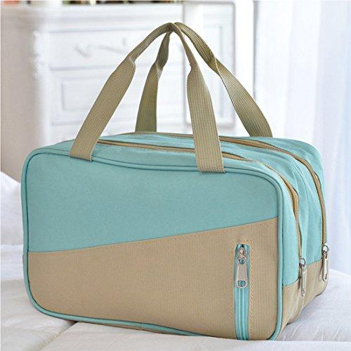 Dooppa Schwimm-Tasche, Unisex-Design, wasserdicht, Trennung von trockener und nasser Kleidung, hellblau