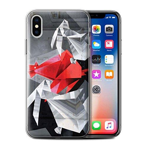 Stuff4 Gel TPU Hülle / Case für Apple iPhone X/10 / Reise/Schiff Muster / Städtisch Straße Kunst Kollektion Alte Fabrik