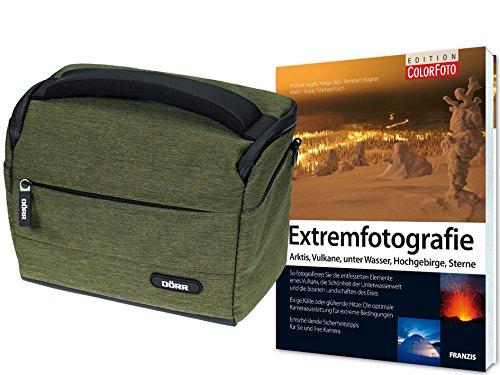 fz300 buch Foto Kamera Tasche Motion M oliv im Start Set mit Fotofachbuch Extremfotografie