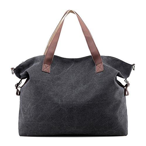 Mefly Koreanischen Neuen Handtasche Canvas Tasche Tasche Alle - Casual Schulter Große Leistung Übereinstimmung black