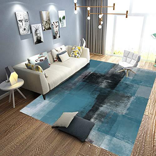 Abstract Wolle (annsr Lammfellimitat Teppich Schaffell Imitat Sofa Matte Abstract Nordischer Stil Wohnzimmer Teppiche Modern Nachahmung Wolle Teppich,C-03-140 * 200cm)