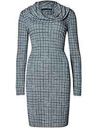 3b8ac6be6 Ladies Ex M&S Cowl Neck Long Sleeve Abstract Check Jumper Dress