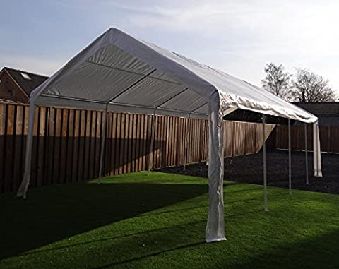 Foldable Gazebo Pavilion Party Tent | No Sidewalls Included | 800 x 400 cm (8 x 4 m) | Rectangular | White | SORARA | 67 kg (UV 50+)| Event Outdoor Camping Carport Shelter Canopy