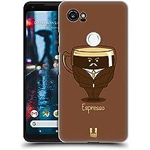Head Case Designs Espresso Personalità Del Caffè Cover Retro Rigida per Google Pixel 2 XL