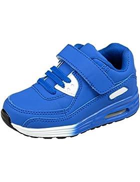 GIBRA® Kinder Sportschuhe, mit Klettverschluss, blau/weiß, Gr. 25-36