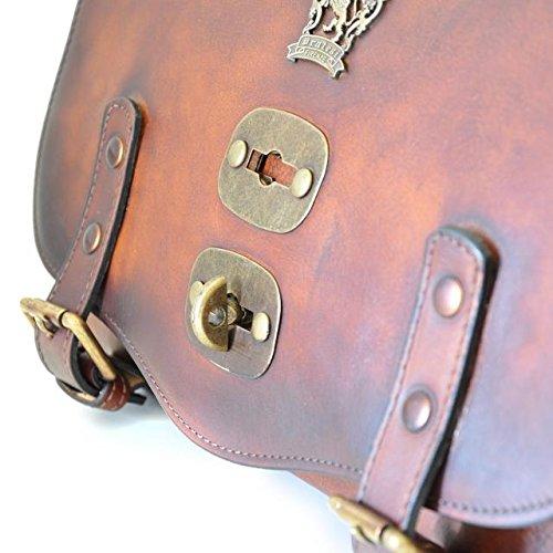 Pratesi Castell'Azzara borsa a spalla in pelle (piccola) - B162/P Bruce (Verde) Rosa