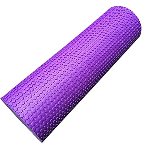 Coolster 45x15cm Yoga Schaum Wedges Pilates Massage Gym Fitness Trigger Point Übung Schaum Roller (lila)