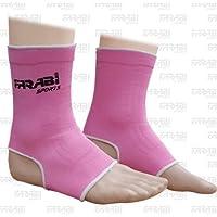 Farabi Sports - Tobilleras para muay thai o kick boxing (talla S/M), color rosa