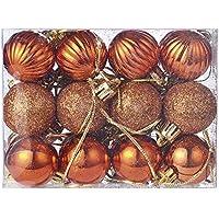 Rovinci 1 Caja (24 Piezas) Bolas de Navidad Multiuso con la práctica de la Cadena de plástico Adornos de Bolas de Bolas Rojas del árbol de Navidad Decoración de Adornos para Fiestas en casa