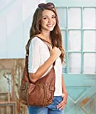 Double Front Zip Leatherette Bag