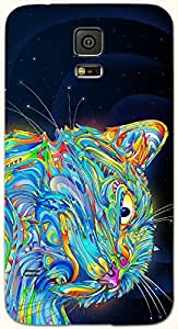 Noticeable multicolor printed protective REBEL mobile back cover for Samsung Galaxy S5 / SM-G900I D.No.N-T-2902-S5