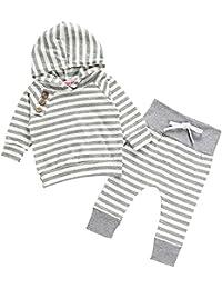 RAISEVERN bebé Unisex niños niñas Sudadera con Capucha pantalón de chándal con Capucha Trajes Halloween Set Ropa 0-24 Meses