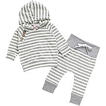 Chicolife Unisex Recién Nacido Bebé Chicos Chicas Caliente Hoodie Top + Legging Pantalones Conjunto Ropa Infantil