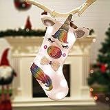 1 pièces Décorations de Noël,Bonbons Chaussettes Cadeaux Sac décoration,Sac Cadeau de Noël,Mignon Licorne Sac Cadeau Chaussette de Noël