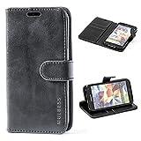 Mulbess Ledertasche im Ständer Book Case / Kartenfach für Samsung Galaxy S5 / S5 Neo Tasche Hülle Leder Etui,Schwarz