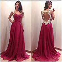 CC * CD Vestido para mujeres, cuello en V, damas de honor, vestido formal, vestido de cóctel, de fiesta y noche