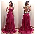 CC * CD Vestido para mujeres, cuello en V, damas de honor, vestido formal, vestido de cóctel, de...
