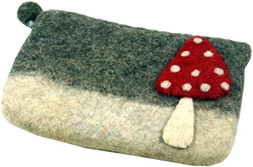 Guru-Shop Filz Portemonnaie Fliegenpilz, Herren/Damen, Weiß, Wolle, Size:One Size, 11x17 cm, Filz Portemonnaies -