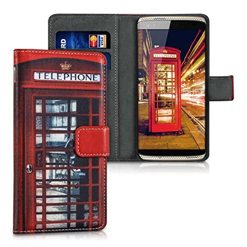 kwmobile ZTE Axon Mini Hülle - Kunstleder Wallet Case für ZTE Axon Mini mit Kartenfächern und Stand