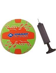 Schildkröt Funsports Beachvolleyball mit Pumpe, Grün, 5, 970177