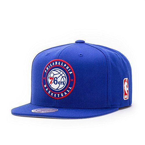 Mitchell & Ness Philadelphia 76ers Circle Patch Team Snapback Cap, royal
