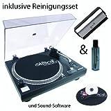Hifi-Dj USB-Plattenspieler 'DD 2520' mit USB Ausgang, Sound-Software und Dynavox Reinigungsset von Show-Dealer