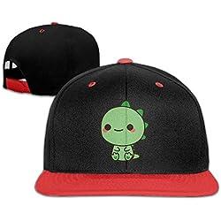 fboylovefor Kawaii Green Dinosaur Youth Unisex Contrast Color Cap Baseball Hats (4 Colors)