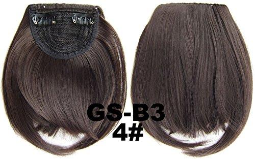 # 4 100% fibre synthétique haute température Clip dans/sur cheveux avant frange frange cheveux