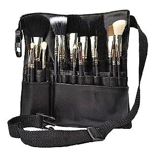 Hotrose 22 Pockets Professional Cosmetic Makeup Brush Bag with Artist Belt Strap for Women