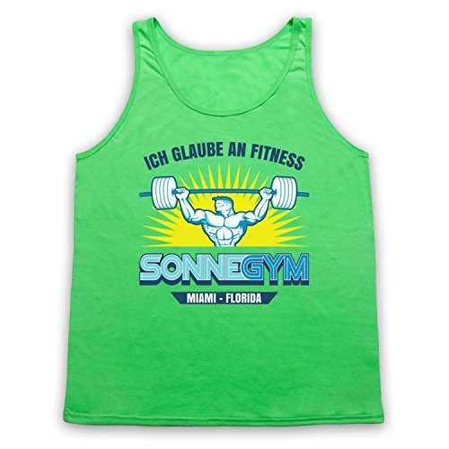 Pain And Gain Gym Ich Glaube An Fitness Tank-Top Weste Neon Grun