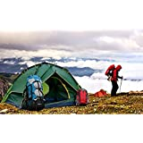 Param Polyester Portable Tent for 4 Person Outdoor Camping (Black)