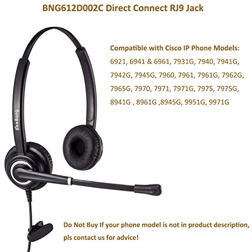 Telephone Headset Cisco IP Phone Headsets with Noise