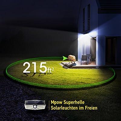 Mpow Solarlampe für Außen【Innovative Version】 30 LED Solarleuchte mit Bewegungsmelder IP6+ Wasserdicht, SunPower Solarlicht 120 ° Weitwinkel Solarlampe Wandleuchte für Garten, Auffahrt, Hof, Garage