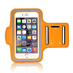 Apple iPhone X (2017) New Hot (5.5) Arm Band Workout Cover Sport Gym Case For Apple iPhone X (2017) with screen proptector (ORANGE)