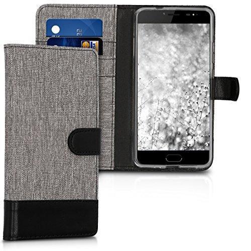 kwmobile Ulefone Gemini Pro / T1 Hülle - Kunstleder Wallet Case für Ulefone Gemini Pro / T1 mit Kartenfächern und Stand