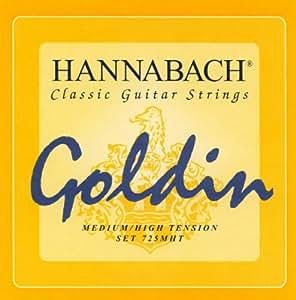 Hannabach 652727 Série 725 Cordes pour Guitare Classique Medium/High Tension Goldin
