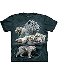 The Mountain Unisexe Enfant Tigre Blanc Collage T Shirt
