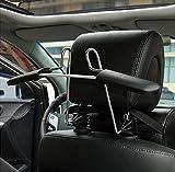 Kleiderbügel für Kopfstütze aus Metall Chrom Aufhänger Auto Autokleiderbügel für Kopfstütze Halter für Kleiderbuegel Kleidung Jacke Anzuege Shirts Befestigungssysteme für Autositze