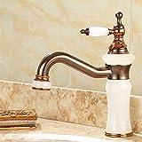 Rmckuva Waschtischarmaturen Bad Wasserhahn Moderne Einhand Wasserhahn Jade Messing Mixer Waschbecken Waschbecken Wasserhahn Weiß