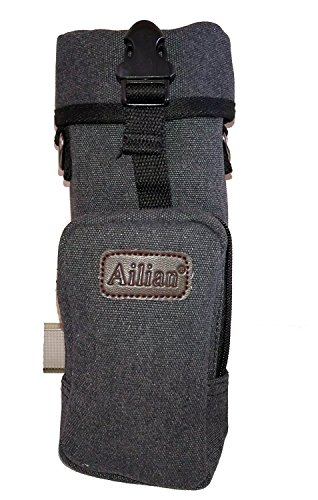 Protector Plus Military Water Bottle Pouch Holder Tactical Kettle / 2 Pockets and an Adjustable Padded Strap. (black)