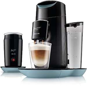 philips hd7874 60 machine caf dosettes senseo twist milk avec mousseur lait bleu gris. Black Bedroom Furniture Sets. Home Design Ideas