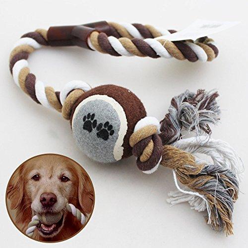 Mascota Perro Cachorro manta bola juguetes tenis pelota para ejercicios de con gran juego cuerda Tug Fetch chicles Bite