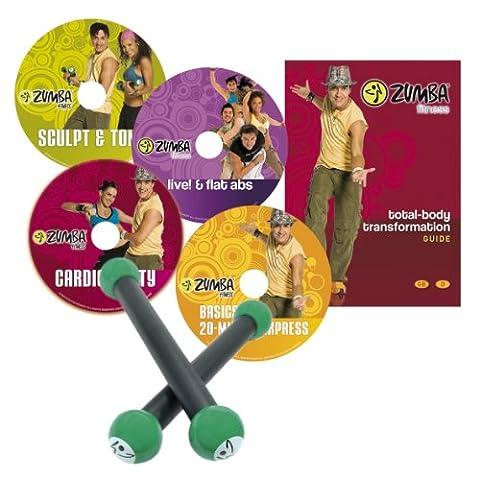 Zumba Fitness® Kit de 4 DVD programme complet et petites haltères