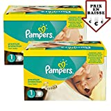 Couches Pampers - Taille 1 new baby premium protection - 168 couches bébé