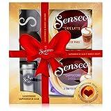 Senseo Geschenkset, 4-tlg, Café Latte & Cappuccino Choco + Kakaostreuer & Schablone